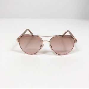 Vince Camuto Gold Aviators Dusty Pink Sides